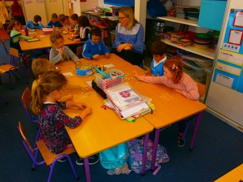 Some Photos of Our Senior Infants Working Hard